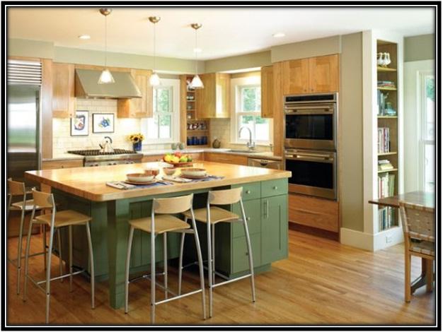 L – shaped kitchen