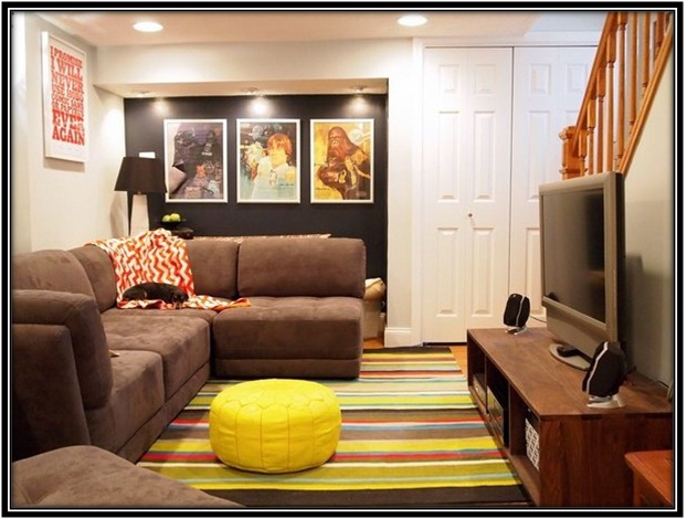 Lounge area in the basement