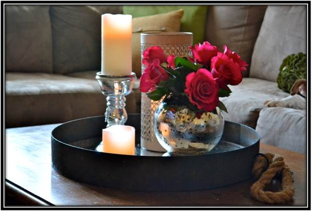 aromatic candles around flowers