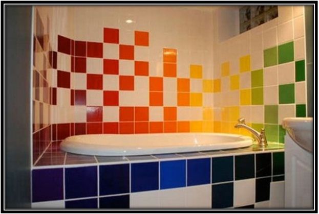 graffiti designs on the tiles