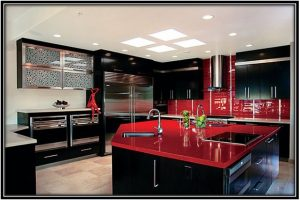 kitchens with black cabinets