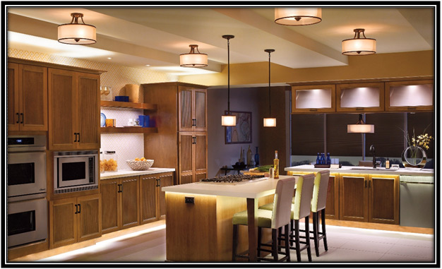 lamps in kitchen