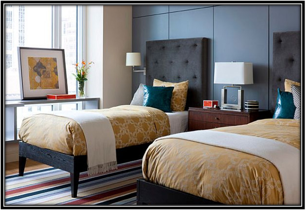 use neutral colors in guest room
