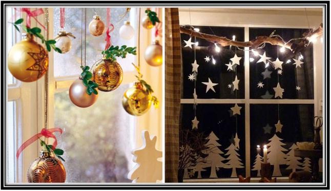 window decoration on Christmas