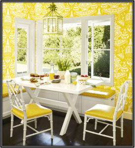 yellow color in room wall