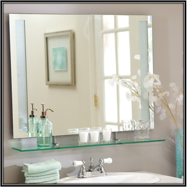 Large size mirrors in the bathroom