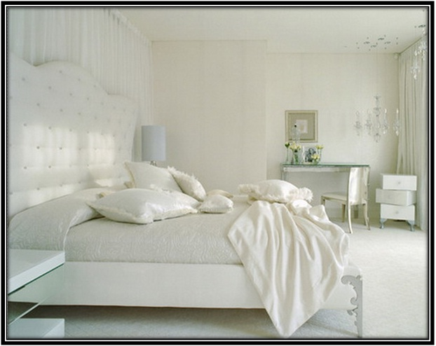 White Bedroom Color Scheme