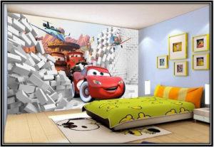putting wallpaper on kids room