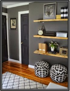 Wooden planks wall items