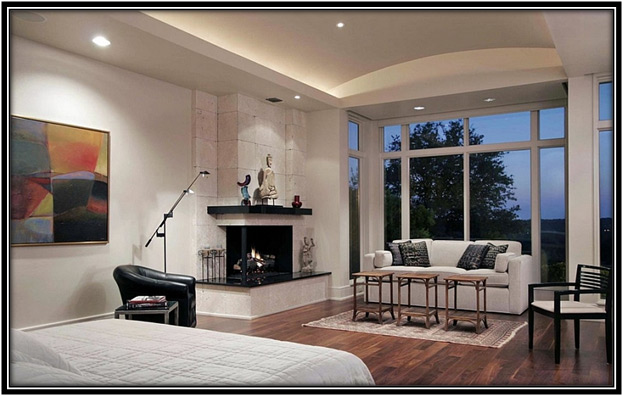 Bedroom Corner Fireplace Home Decor Ideas