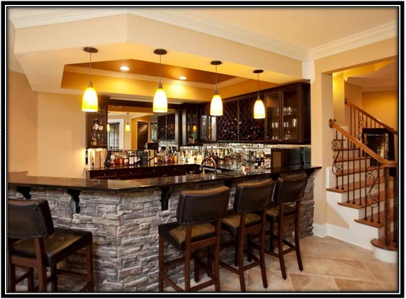 perfect basement for evening entertaining