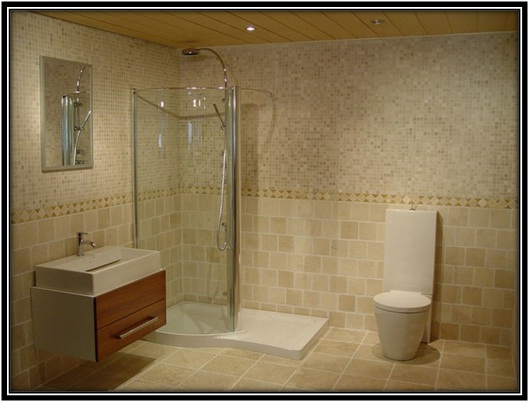use of mosaic tiles in bathroom