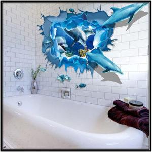 Bathrom 3D Wallpaper Home Decor Ideas