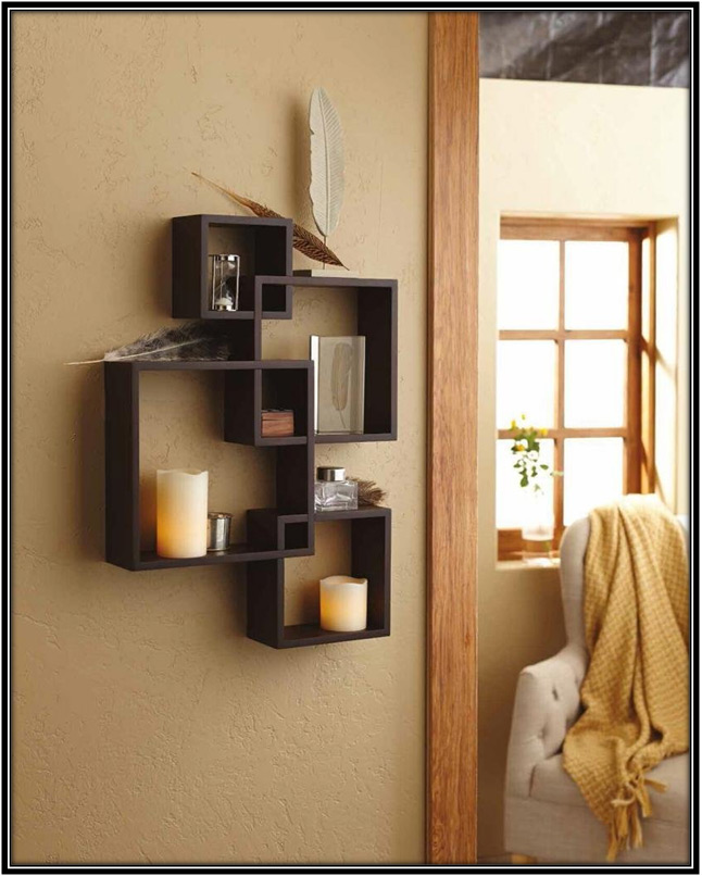 Intersecting Square Shelves Home Decor Ideas