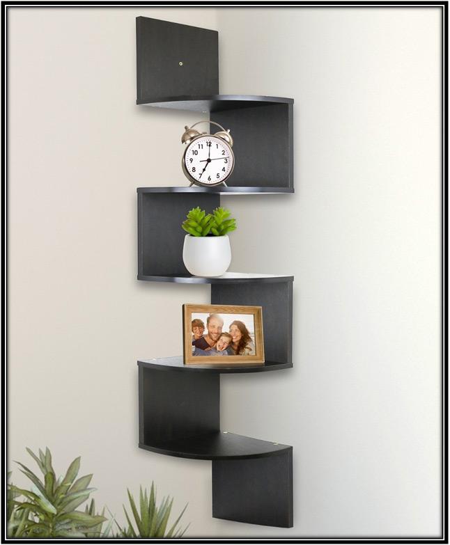 Wall Mounted Corner Shelves Home Decor Ideas