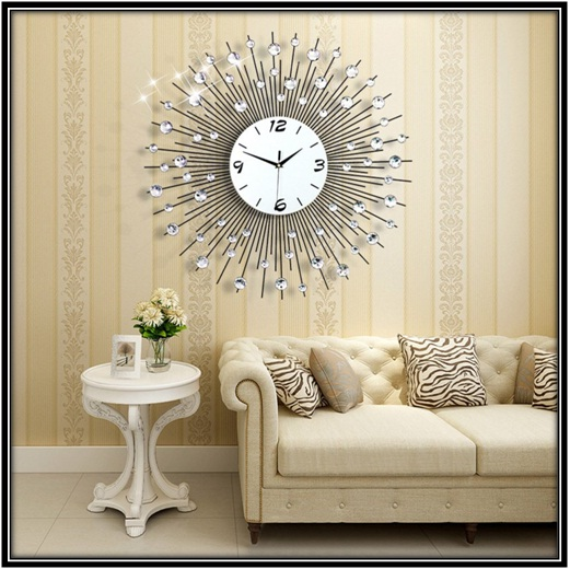 3D Diamond Wall Clock for your homes in the best way - home decor ideas