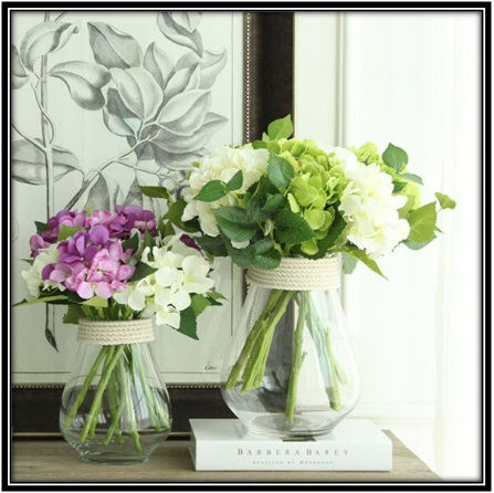China made hemp glass vase - home decor ideas
