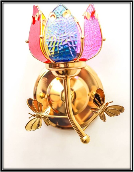 Colourful Wall Lamp - home decor ideas