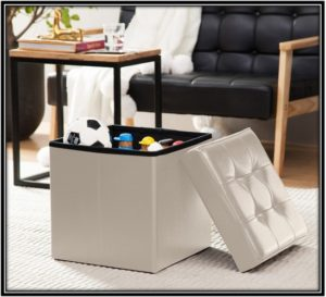 Foldable Cube Shape Ottoman for the perfect living room - home decor ideas
