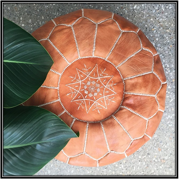 Footstool Handmade Ottoman for the perfect living room - home decor ideas