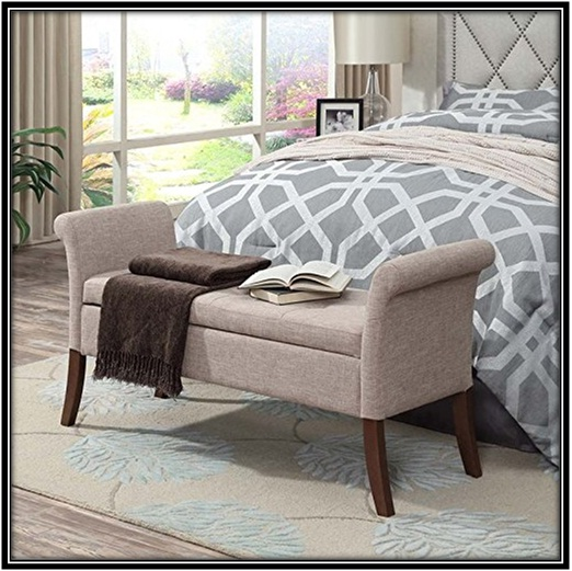 Garbo Tan Fabric Ottoman for the perfect living room - home decor ideas
