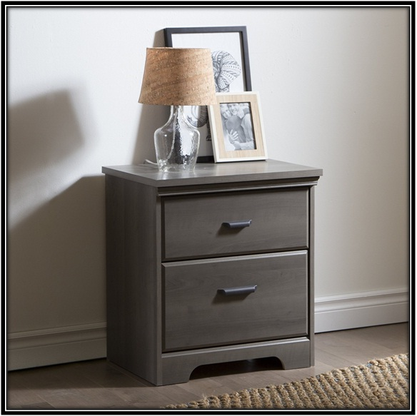 Gray Maple Drawer Night Stand - home decor ideas