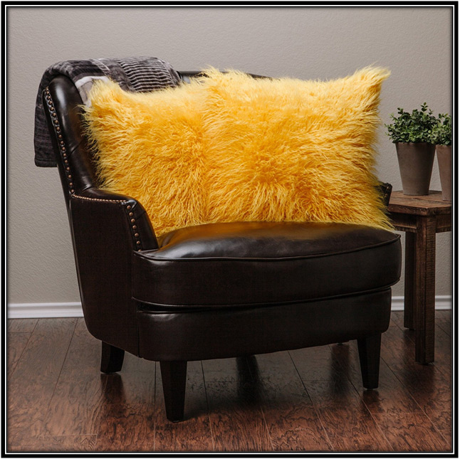 Shaggy Fuzzy Fur Pillow For Living Room Home Decor Ideas