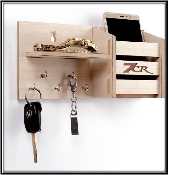 Shelf wooden key holder - home decor ideas