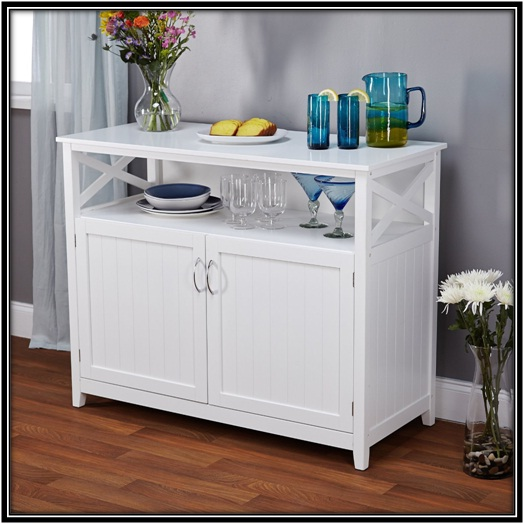 Simple Wooden Buffet Cabinet for kitchen decoration - home decor ideas