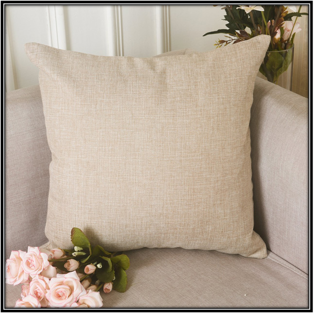 Square-Shaped Light Linen Pillow For Living Room Home Decor Ideas