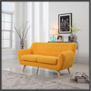 Yellow Linen Fabric Sofa Home Decor Ideas