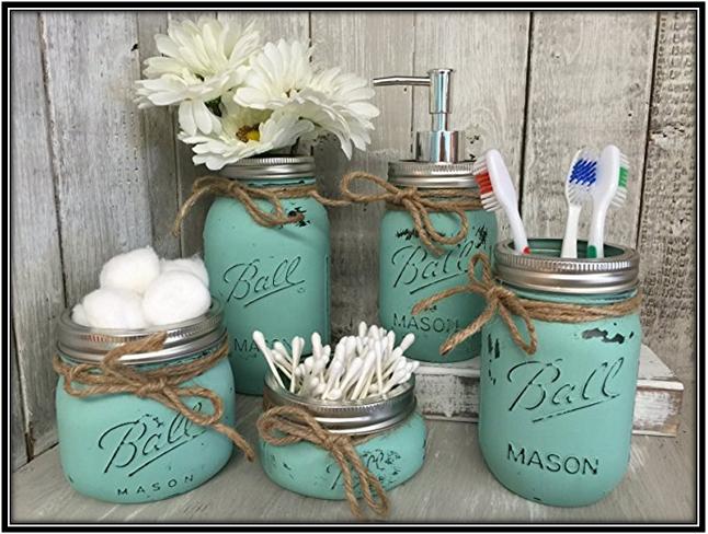 A Set Of 5 Jars Home Decor Ideas