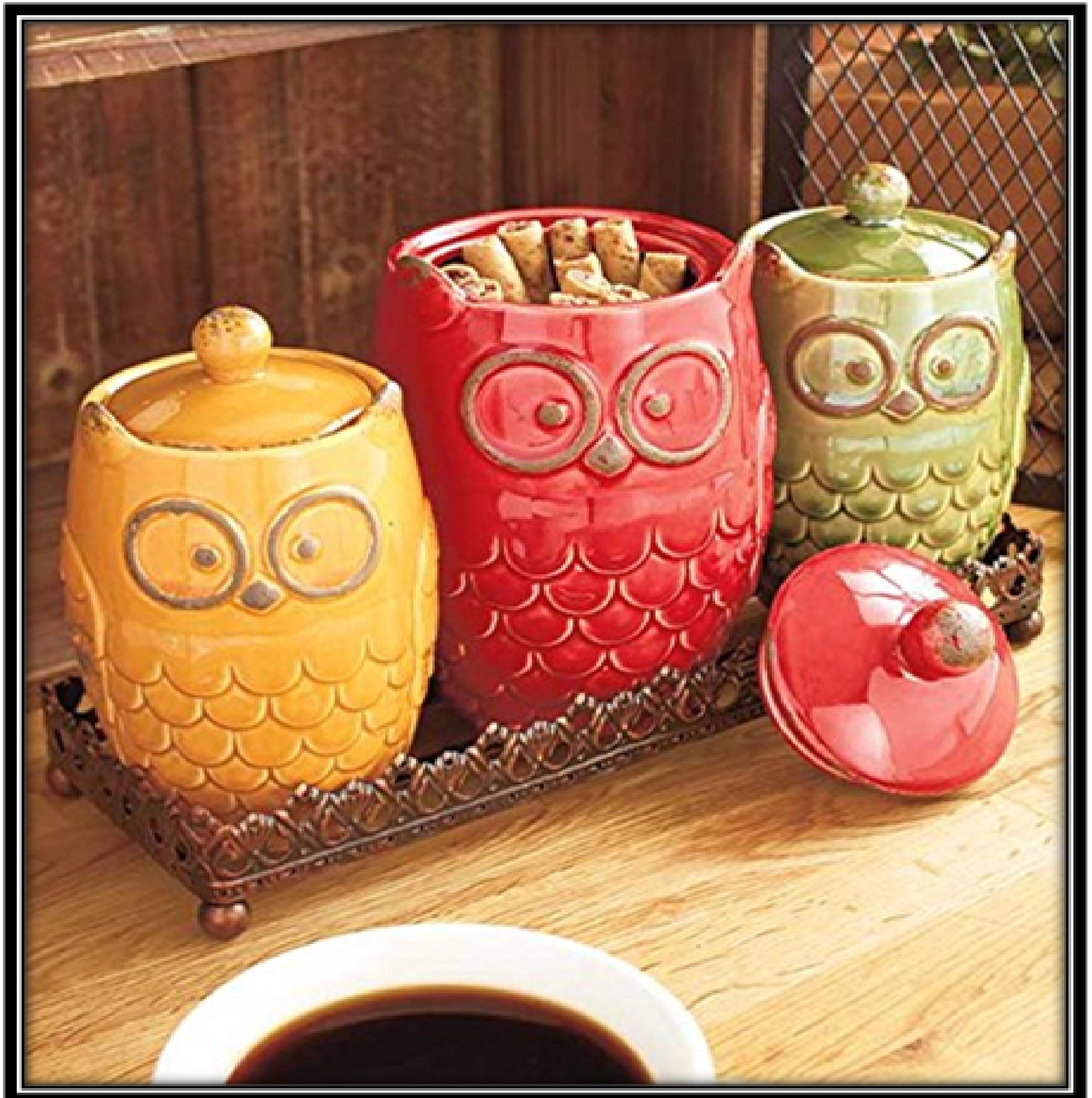 Ceramic Canister –Owl shaped - home decor ideas