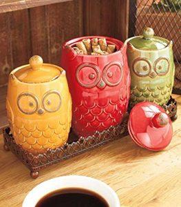 Ceramic Canister - Owl Shaped Home Decor Ideas