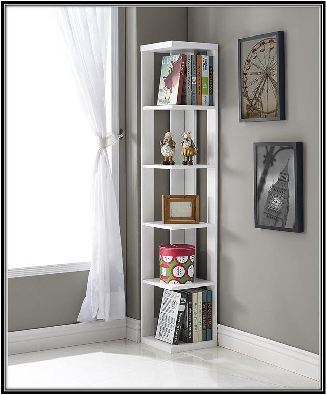 Corner Bookshelf Home Decor Ideas