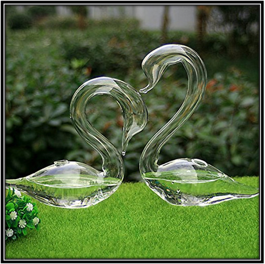 Glass Swans Garden Decoration Ideas Home Decor Ideas