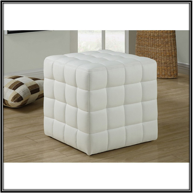White Leather Ottoman Home Decor Ideas