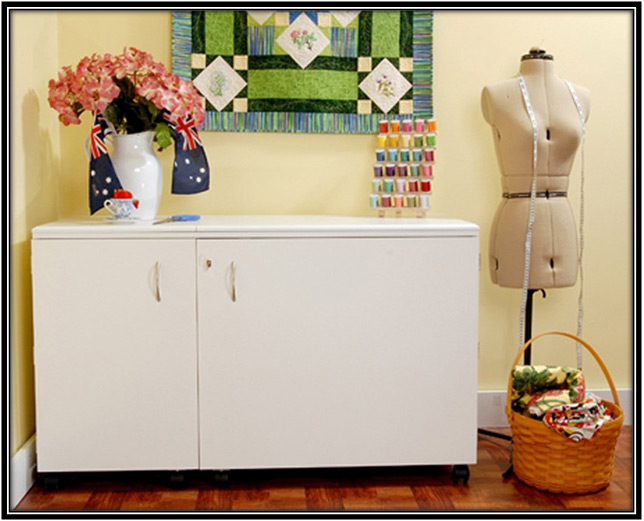 White Sewing Cabinet Home Decor Ideas