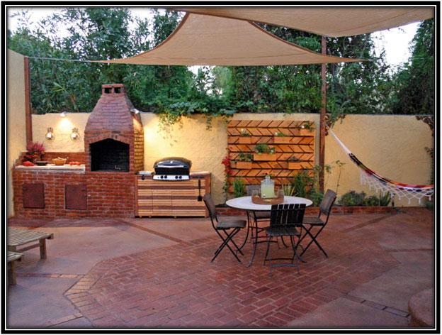 An Ethnic Looking Kitchen Outdoor Kitchen Home Decor Ideas