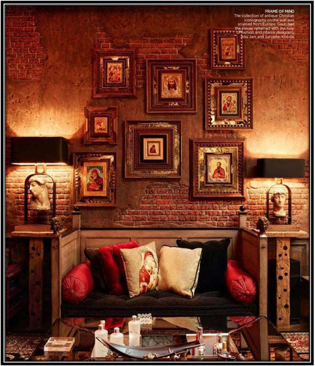 An Antique Looking Cosy Corner Celebrity House Interior Home Decor Ideas