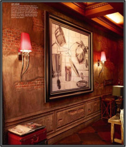 An Attention-grabbing Wall Celebrity House Interior Home Decor Ideas