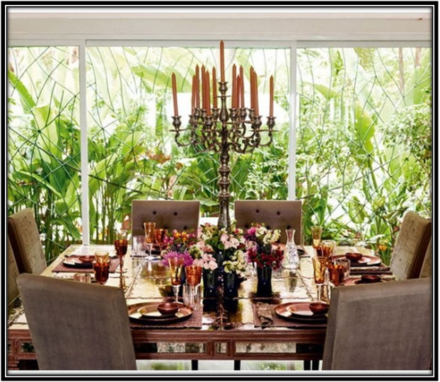 For A Colourful Dining Area Celebrity House Interior Home Decor Ideas Ideas
