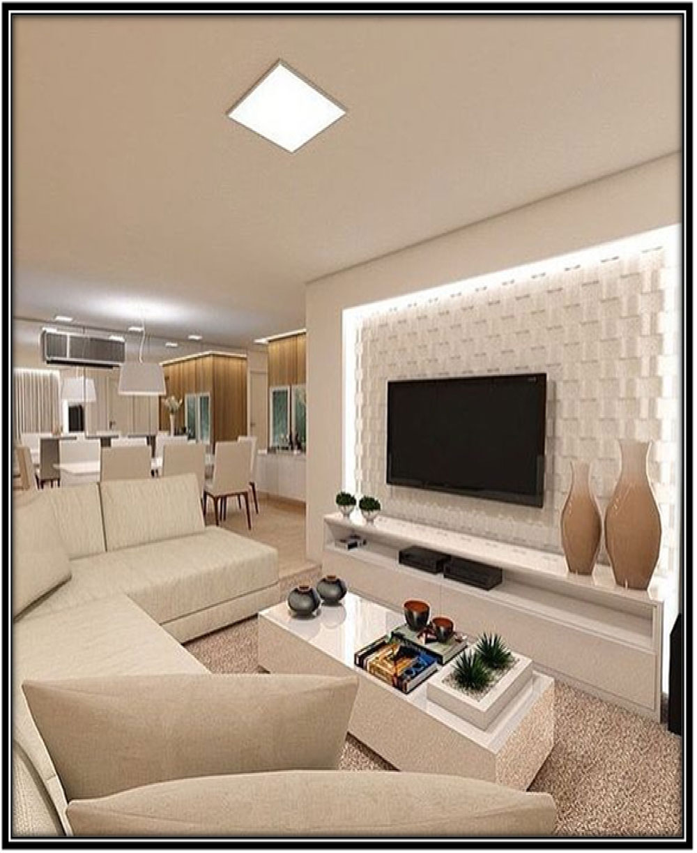 For a luxurious TV corner - Home decor ideas