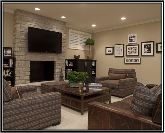 Basement As Mini Theatre Basement Decor Ideas