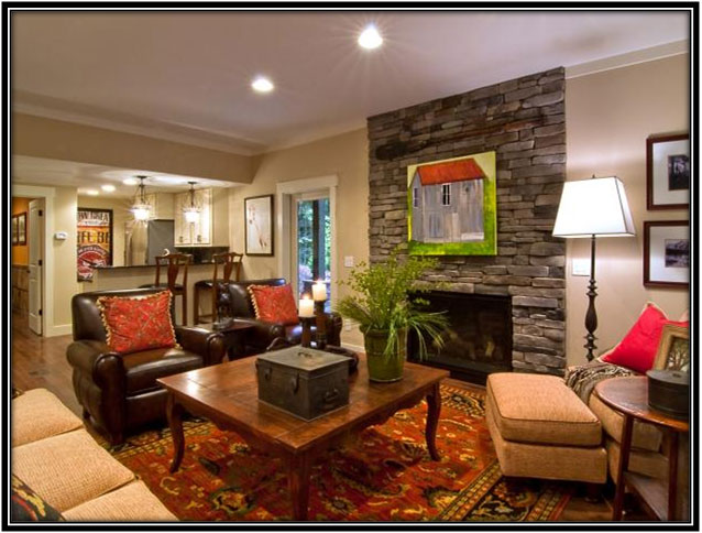 Basement Converted Into Living Area Basement Decor Ideas