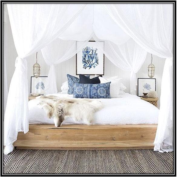 Curtain On The Bed Curtain Decor Ideas