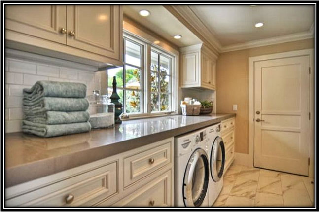 Laundry Room As A Part Of Kitchen Laundry Room Decor Ideas