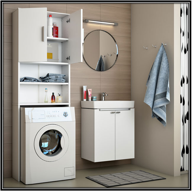 Laundry Space In Bathroom Laundry Room Decor Ideas