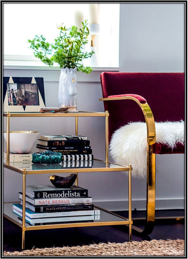 Layered Side Table For The Bedroom