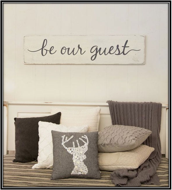 Welcome Signs & Boards Guest Room Decor Ideas